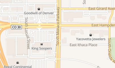 Directions for Southmoor Wine & Spirits in Denver, CO 3533 S Monaco Pkwy