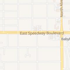 Directions for Bashful Bandit in Tucson, AZ 3686 E Speedway Blvd