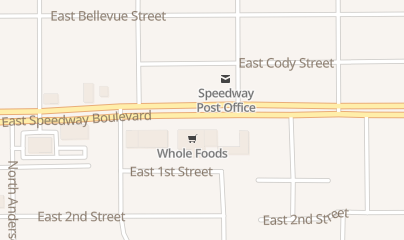 Directions for Zia Records in Tucson, AZ 3390 e Speedway Blvd