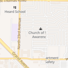 Directions for Church of Spirit Awareness in Phoenix, AZ 2145 W Virginia Ave