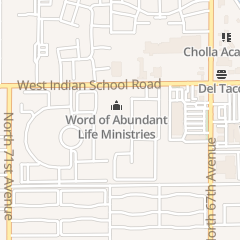 Directions for Word of Abundant Life Ministries in Phoenix, AZ 6849 W Indian School Rd