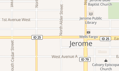 Directions for LOUNGE in Jerome, id 204 W Main St