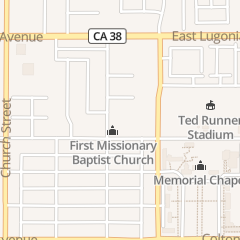 Directions for First Missionary Baptist Church in Redlands, CA 1100 Occidental Dr