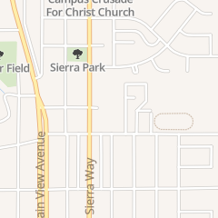 Directions for Calvary Baptist Nursery School in San Bernardino, CA 3701 N Sierra Way