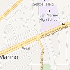 Directions for Chul Jin Martial Arts in San Marino, CA 2549 Huntington Dr