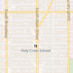 Directions for Holy Cross Church in Los Angeles, CA 4705 S Main St
