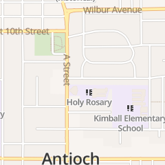 Directions for Holy Rosary Church Antioch Youth Ministry in Antioch, CA 18 E 13th St
