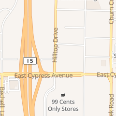 Directions for Bruciante Wood Fired Pizza in Redding, CA 2491 Hilltop Dr