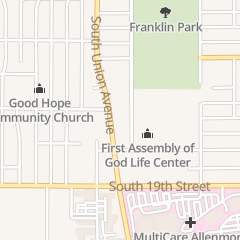 Directions for ASSEMBLY OF GOD FIRST LIFE CENTER in Tacoma, wa 1717 S Union Ave