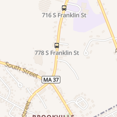 Directions for Brookville House of Pizza in Holbrook, MA 777 S Franklin St