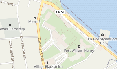 Directions for Fort William Henry Hotel & Conference Center in Lake George, NY 48 Canada Street