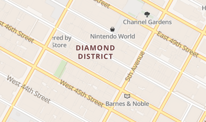Directions for GemsNY in New York, NY 20 W 47th St, Ste 606