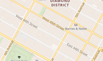 Directions for Fairdeal Tobacco Corp in New York, NY 19 W 44th St