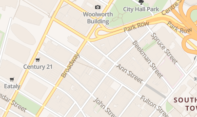 Directions for COMMERCIAL PROPERTIES 24 in New York, NY 222 Broadway, 19th Floor