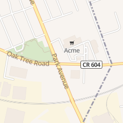 Directions for A & P Food Store in South Plainfield, NJ 907 Oak Tree Ave