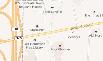 Directions for Rite Aid Pharmacies Discount Liquor in Watertown, NY 1222 Arsenal St