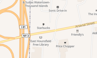 Directions for Rite Aid - Liquor in Watertown, NY 1222 Arsenal St