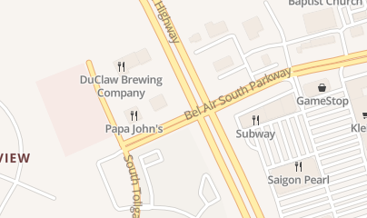 Directions for Duclaw Brewing Company in Bel Air, MD 16 Bel Air S Pkwy
