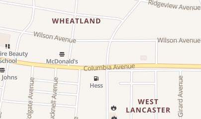 Directions for Wheatland Distributors in Lancaster, PA 1701 Columbia Ave