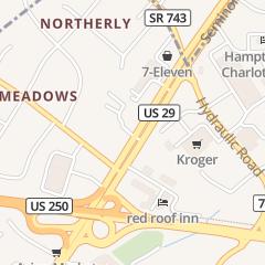 Directions for Finally's Hair Studio in Charlottesville, VA 1807 Emmet St N Ste 5a