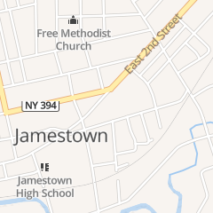 Directions for Kentucky Fried Chicken in Jamestown, NY 522 E 2nd St
