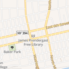 Directions for Prendergast Library Association in Jamestown, NY 509 Cherry St