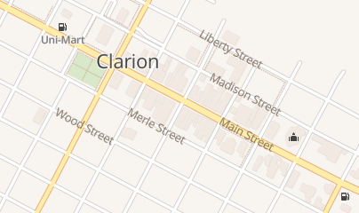 Directions for Clarion River Brewing CO in Clarion, PA 600 Main St