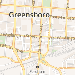 Directions for Glitter's in Greensboro, NC 300 S Elm St