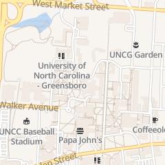 Directions for University of North Carolina at Greensboro in Greensboro, NC 1000 Spring Garden St