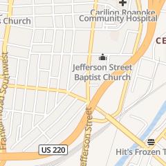 Directions for Carilion Clinic Breast Care Center - Jefferson in Roanoke, VA 1211 S Jefferson St