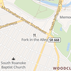 Directions for Fork in the Alley in Roanoke, VA 2123 Crystal Spring Ave Sw