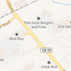 Directions for Yogurt Treats Erie llc in Erie, PA 6825 Peach St