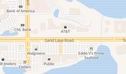 Directions for Cricketers Inc in Orlando, FL 7563 W Sand Lake Rd