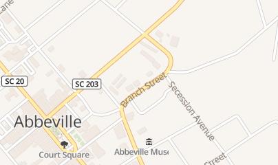 Directions for Rosenberg's Spirits in Abbeville, SC 105 Branch St