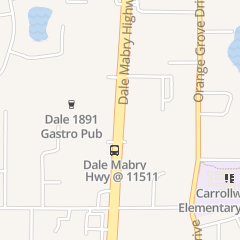 Directions for Noble  Crust in Tampa, FL 11618 N Dale Mabry Hwy
