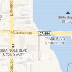 Directions for Godfather's Pizza in Seminole, FL 10544 Park Blvd