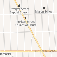 Directions for Rose of Sharon Christian Assembly in Detroit, MI 19337 Conant St