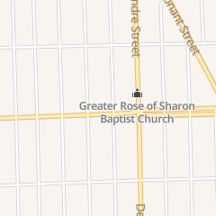 Directions for Rose of Sharon Church of God in Christ in Highland Park, MI 1799 E State Fair