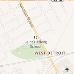 Directions for St. Hedwig's Church in Detroit, MI 3245 Junction St