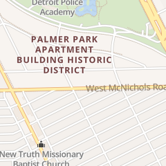 Directions for Esther's House Ministries Christian Center in Detroit, MI 714 W Mcnichols Rd