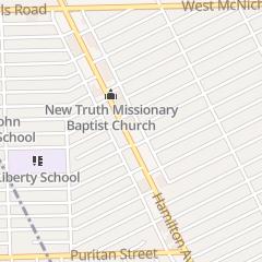 Directions for Faith Tabernacle Church in Highland Park, MI 16548 Hamilton Ave
