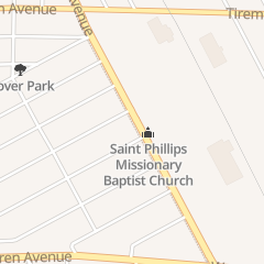 Directions for St. Phillips Missionary Baptist Church in Detroit, MI 7307 Livernois Ave