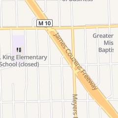 Directions for Antioch Church of God in Christ in Detroit, MI 16827 Appoline St