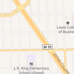 Directions for Fellowship Tabernacle Church of God and Christ in Detroit, MI 17215 James Couzens Fwy