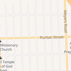 Directions for The Rock Christian Community Center in Detroit, MI 13100 Puritan St