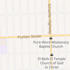 Directions for Gods House of Deliverance Church in Detroit, MI 13836 Puritan St