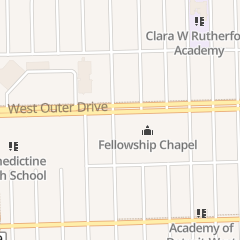 Directions for Fellowship Chapel in Detroit, MI 7707 W Outer Dr