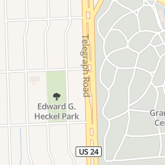 Directions for Deangelo's Soul Food Deli in Detroit, MI 17425 Telegraph Rd