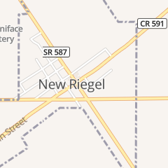 Directions for First National Bank in New Riegel, OH 10 E Tiffin St