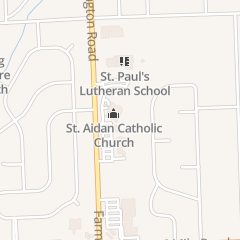 Directions for St. Aidan's Church in Livonia, MI 17500 Farmington Rd